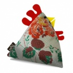 Brenda Vintage Fabric Chicken Doorstop